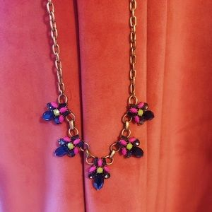 NWOT J. Crew colorful jewel statement necklace
